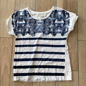 Zynergy by Chico's blue and white top